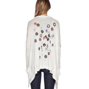 Lauren Moshi Band Pins Cardigan Sweater Sz XS/S